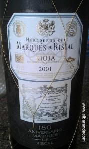 Marques de Riscal 2001 150 aniversario 03-01-2013 13-42-30.30